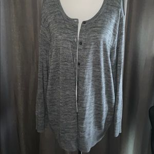 Grey Long Sleeve Everyday Cardigan